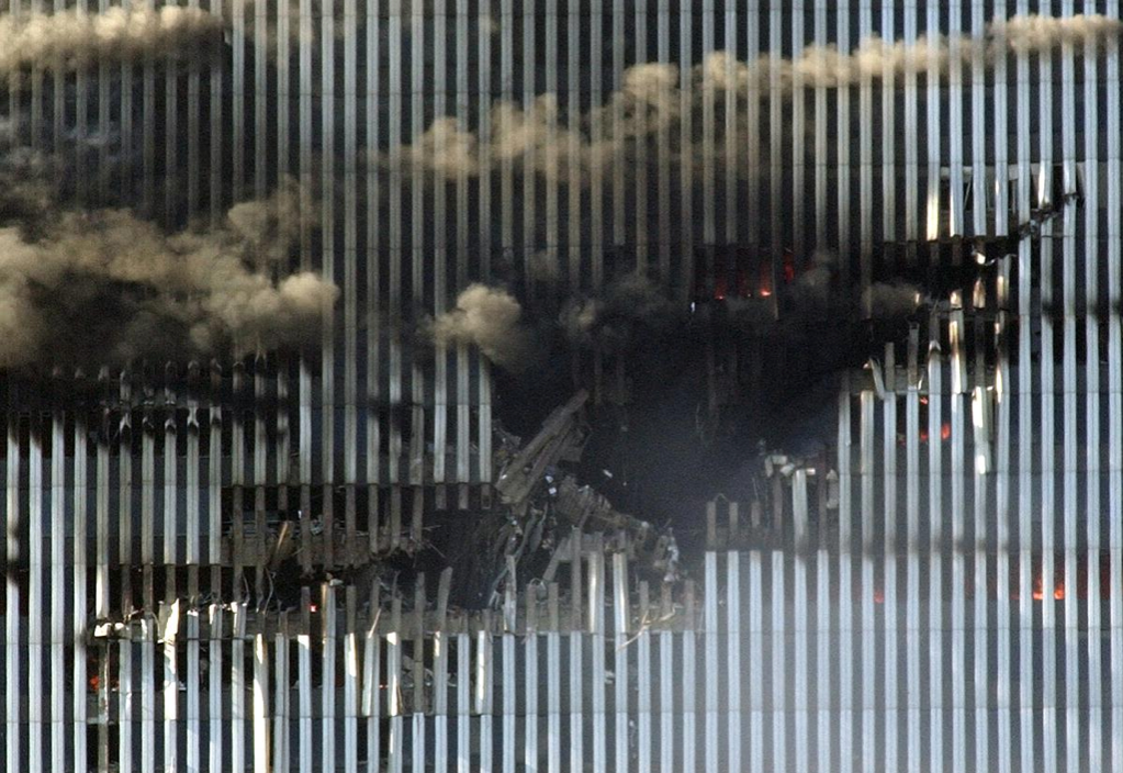 Septermber 11, North Tower impact