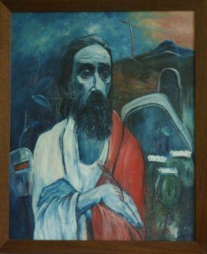 James K Baxter painting