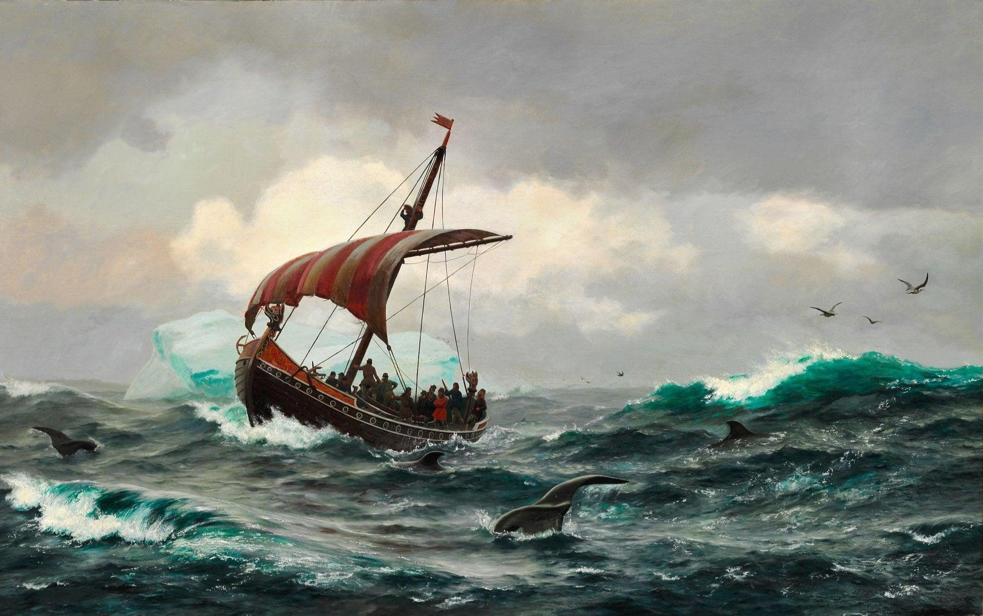 'Summer on the Greenland coast circa year 1000'byCarl Rasmussen, 1875.