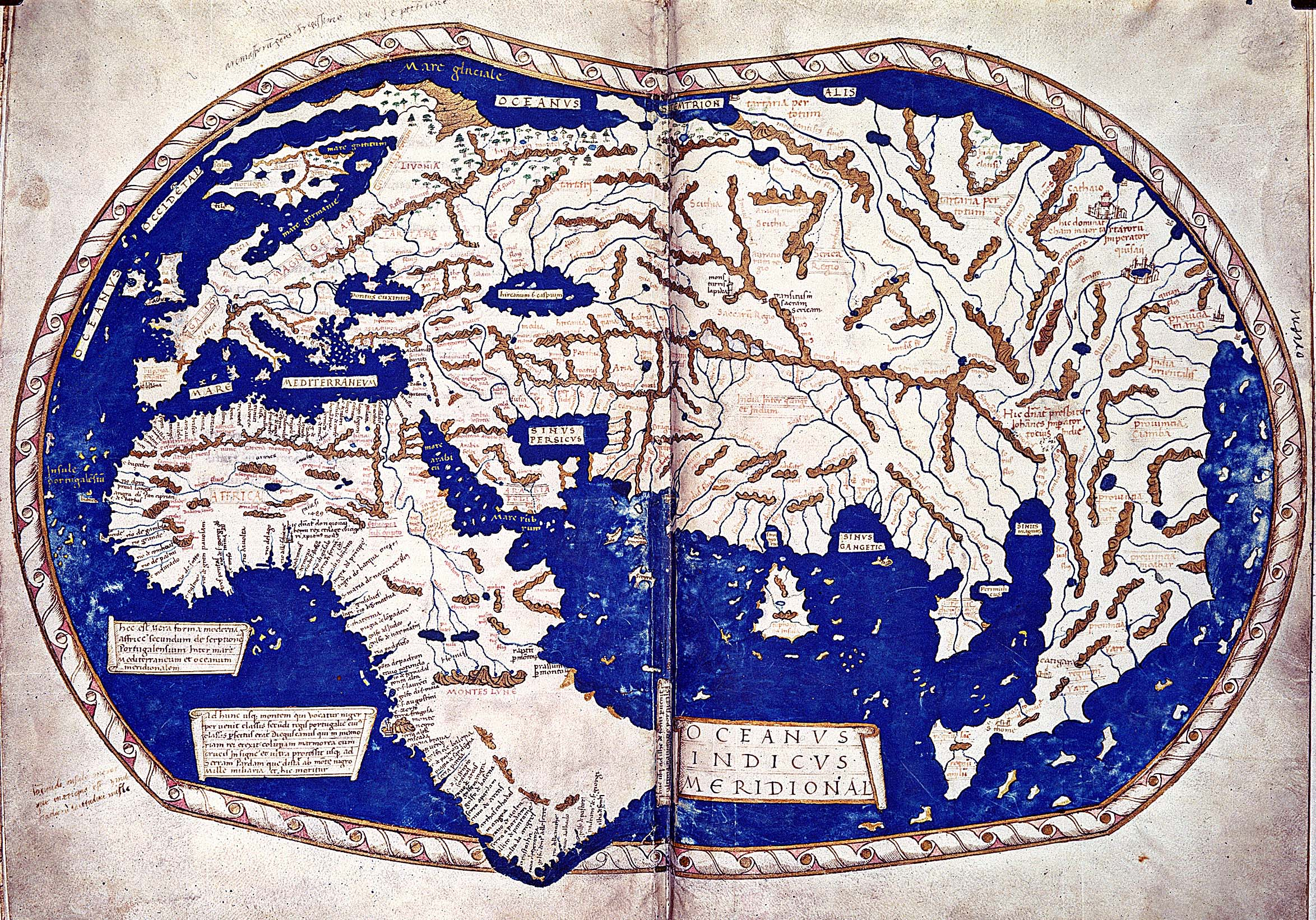The 'Paris Map' (1491), potentially revealing Columbus' geographical knowledge of the North Atlantic and proving the veracity of his voyage to Iceland.